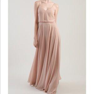 Inesse bridesmaids dress in dessert rose